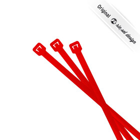 rie:sel design cable:tie Kabelbinder 25 Stück red